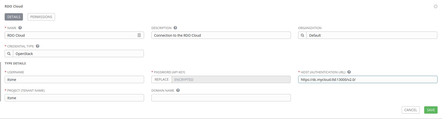 RDO Cloud credential configuration