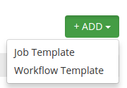 Job Template object under the Add button