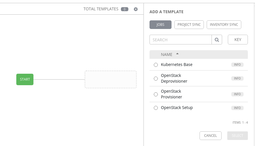 Blank workflow template configuration